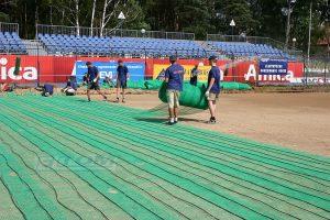 Elektryczne ogrzewanie boisk piłkarskich - Amica Wronki