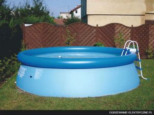 Ogrzewanie wody w basenie ogrodowym